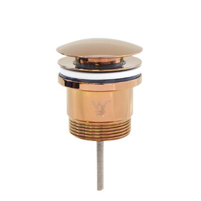 Basin Waste   32x40mm 2-Piece Universal Pop Up Basin Waste   Bolt Style   Dome   Rose Gold